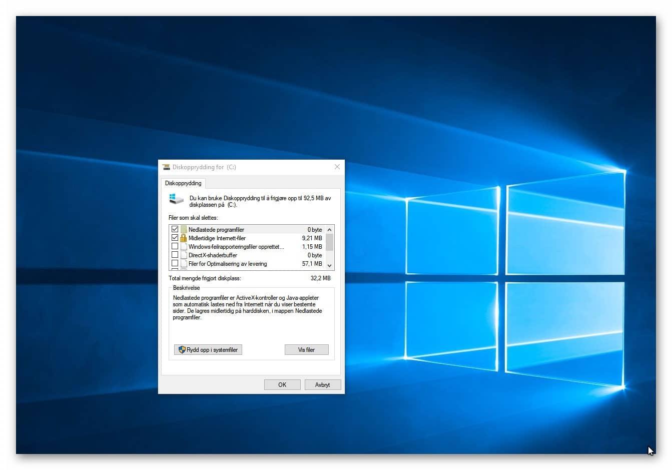 Lite lagringsplass igjen på PC'en din? Fjern unødvendige filer med Diskopprydding