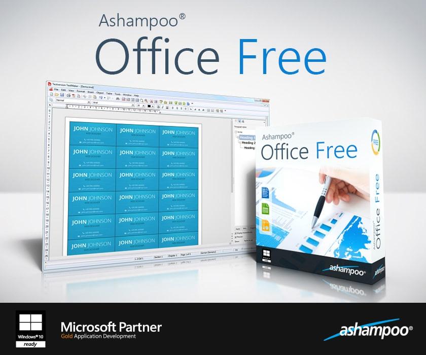 Ashampoo gratis office pakke